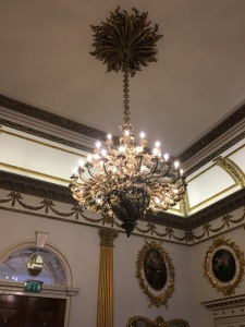 I mean, look at this chandelier. It's gorgeous.