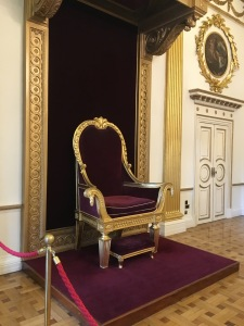 A chair fit for a king -- actually though, this thing was huge!