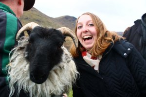 Here's a photo of Sarah with a sheep to make your day better.