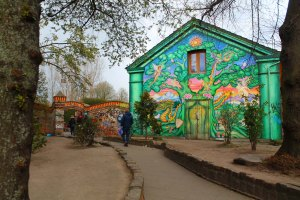 You aren't actually allowed to take pictures in Christiania, so here's one of the entrance. Not to alarming, right? Yet.