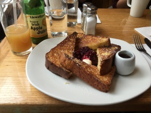 I also ate some good food. This French toast hit the spot.